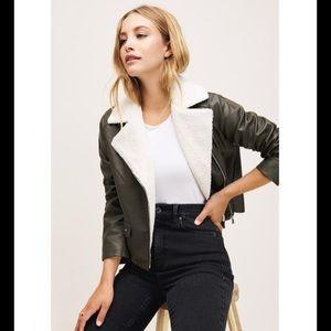 Dynamite sherpa leather jacket! (NWT)